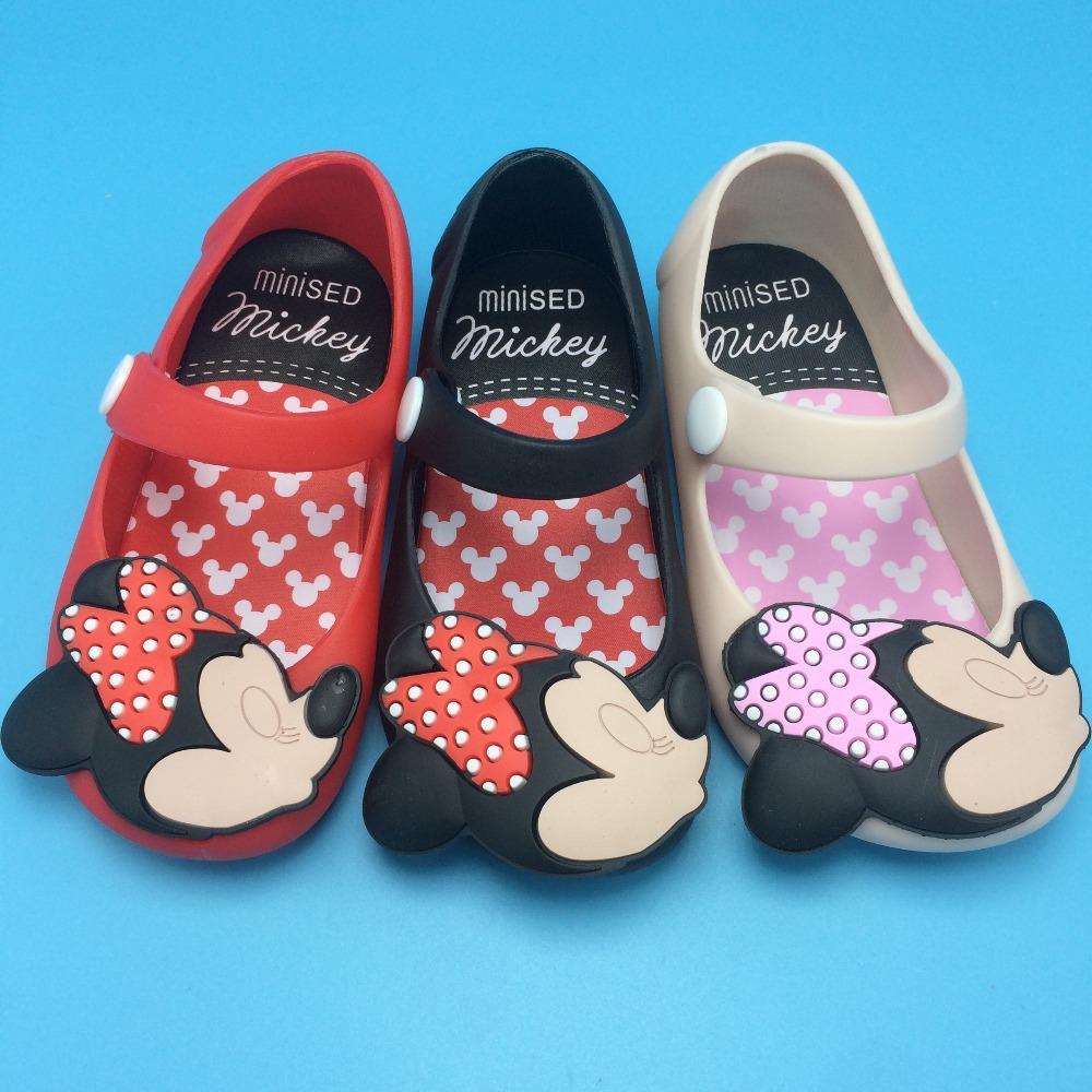 Mini Melissa Jelly Sandals For Baby Girls&Boys Children Summer Cute Minnie&Mickey Cartoon Beach Shoes 2015 New Sandalia Infantil(China (Mainland))