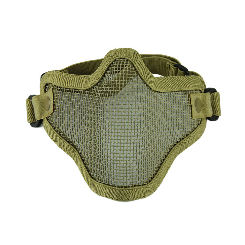 Novel designs Durable Iron Face Airsoft Mask Metal Wire Mesh Lower Half Mask Durable Mask party mask AA(China (Mainland))