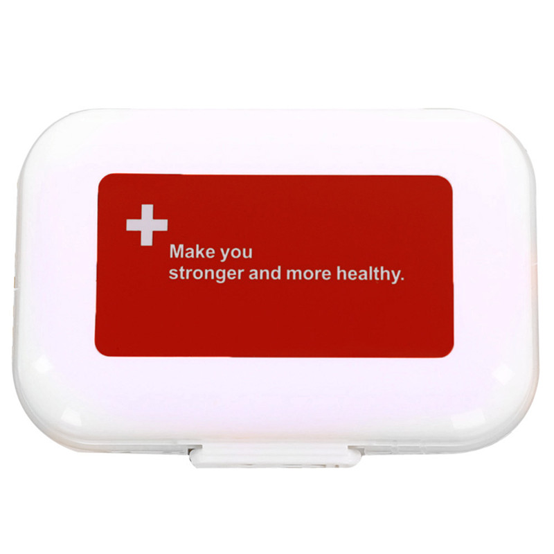 Mini Portable Weekly Pill Cases Medicine Tablet Storage Container Case Medicine Drug Holder Vitamin Holder Pill Organizer Box(China (Mainland))