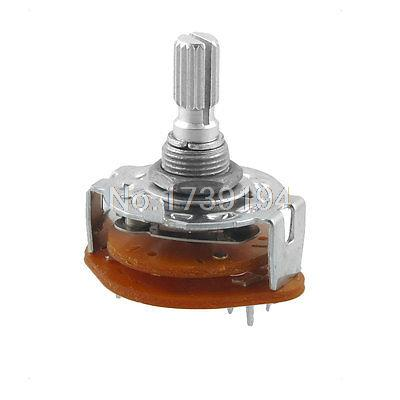 Channel Rotary Selector Switch 6 Pins 2 Pole 2 Position(China (Mainland))