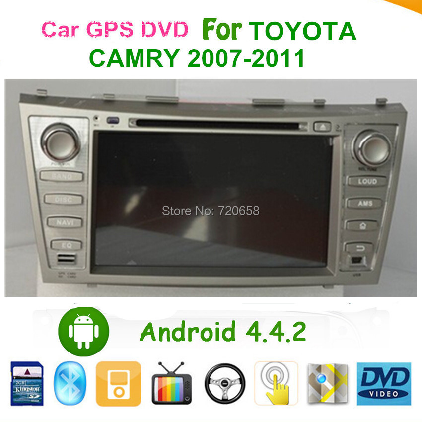 """HD Screen Dual-Core A9 1.6GHz CPU Pure Android 4.4 8"""" Car PC For old Toyota Camry 2007-2011 With DVD GPS WiFi DVR DVB-T(MPEG4)(China (Mainland))"""