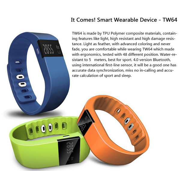2015 TW64 Smartband /tracker Bluetooth 4.0 Fitbit Flex Ios Android