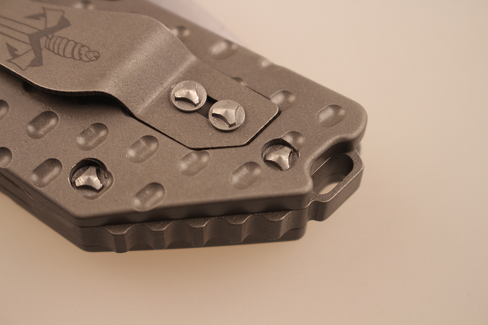 Microtech DOC Blade Titanium Handle Built bearing Custom Flipper Knife Strike CF Camping Tactical survival Knives