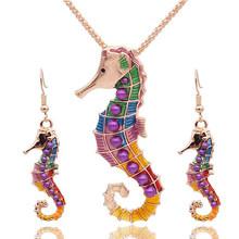 אופל תכשיטי סטים לאישה תליון שרשראות קולר מים Drop עגילים & טבעת זהב צבע בוהמיה מתנות תכשיטי חתונה(China)