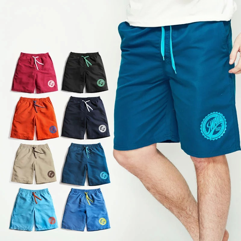 mens soild beach shorts quick drying surf soild beach shorts casual 3xl swimming sea brand hawaii summer 2015 khaki board shorts(China (Mainland))