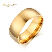 Buy Meaeguet Classic Gold-color Ring Stainless Steel Cool Simple Band Engagement Rings For Women Men USA Size 5-13 for $2.02 in AliExpress store