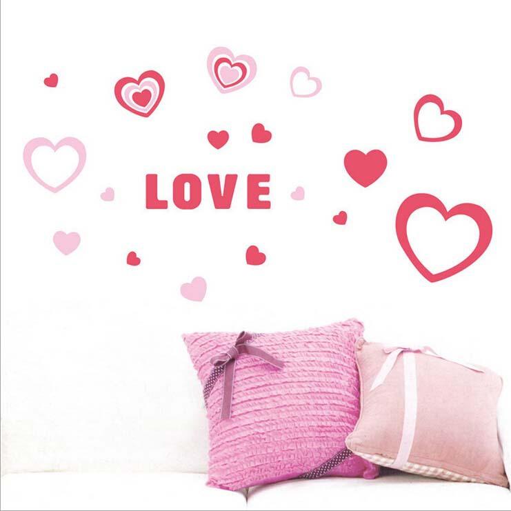 Newest Gesign 3d Love Sponge Wall Sticker Home Decor
