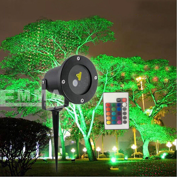 Outdoor laser lights for trees blue garden light