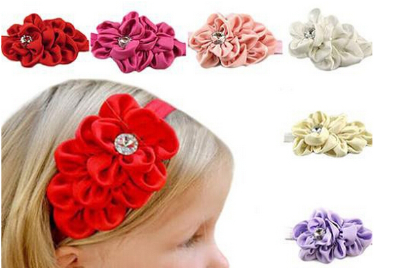 2015 Baby Girls Chiffon Headband Hairbow Hairband Head Hair Band Flower Take Photo Beauty Accessories hot Selling CQ0519(China (Mainland))