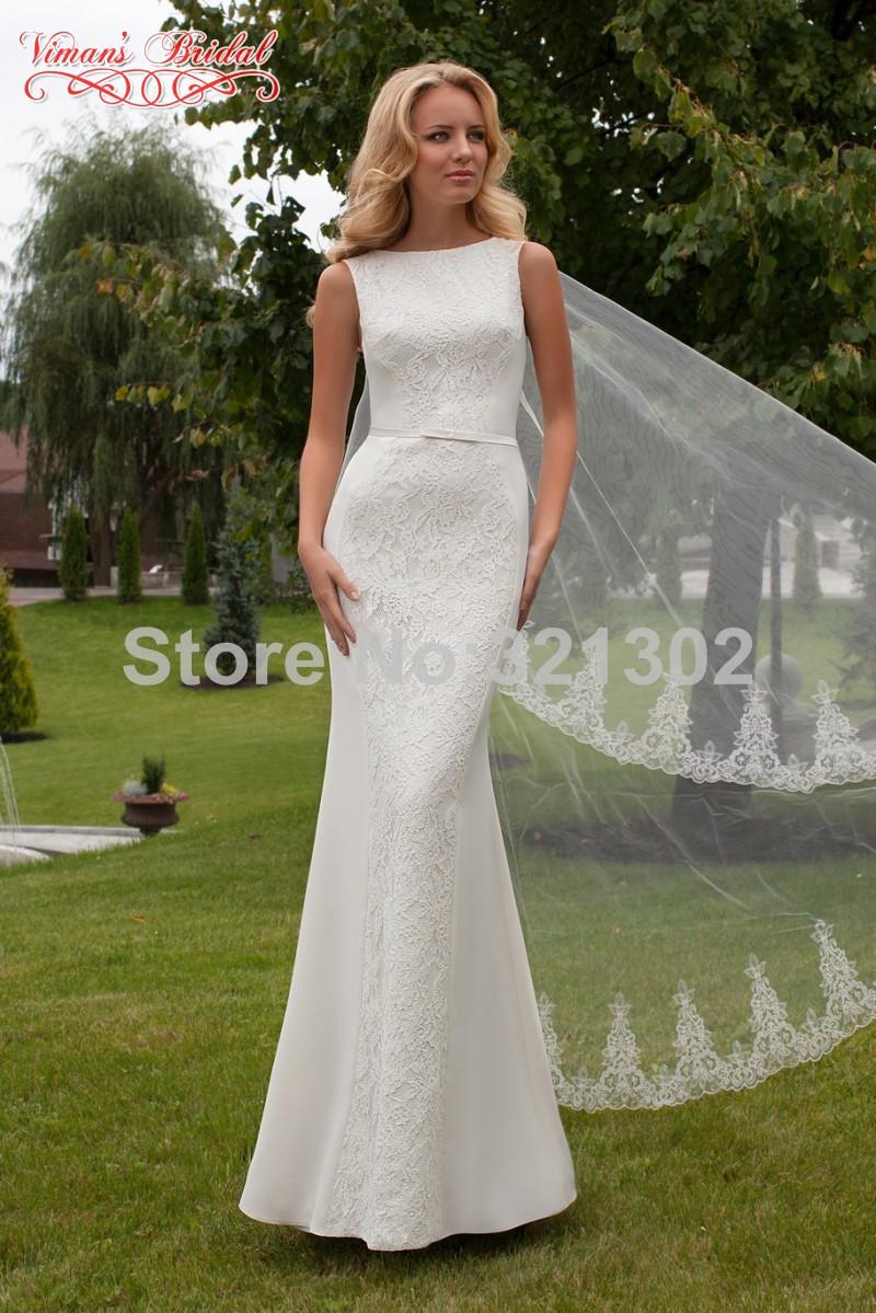 Viman 39 s brida glamorous mermaid vestidos de noiva vintage for Silk vintage wedding dresses