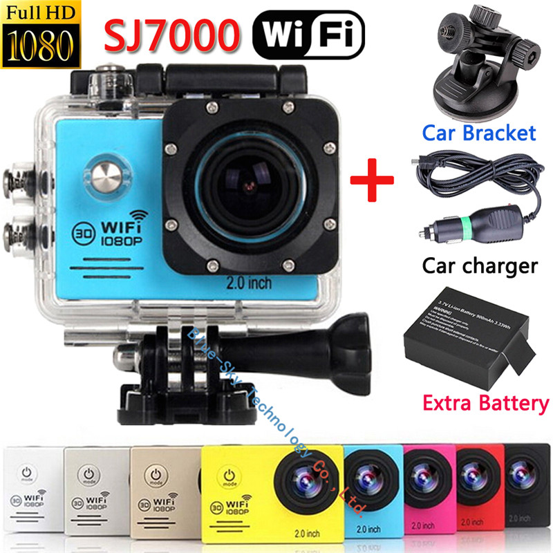 Original SJ7000 WIFI Action Video Camera Car Recorder Diving Bicycle Action Sports Camera  2.0 Inch LCD 170 Wide Angle Len<br><br>Aliexpress