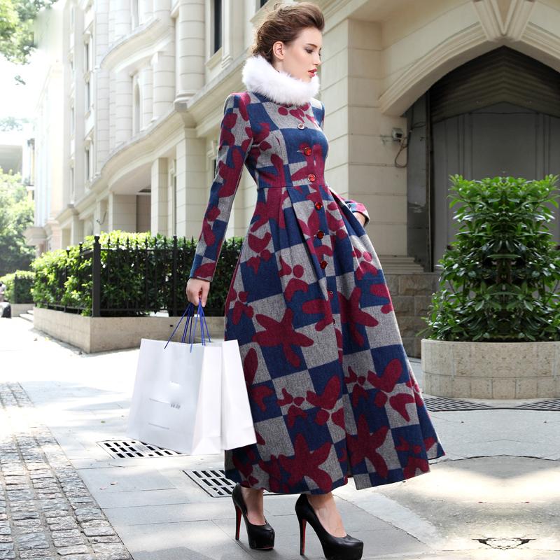 HIGH QUALITY 2015 Fashion Winter Designer Runway Coat Womens  Plus size S-3XLОдежда и ак�е��уары<br><br><br>Aliexpress