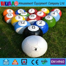 18cm diameter 7'' Giant Snooker Soccer Ball in Snookball Game,Huge Billiards Ball?(1 Air Pump+16 pcs Soccer Toy Balls((China (Mainland))