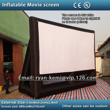 Free shipping small inflatable movie screen 16:9 inflatable projection screen inflatable film screen