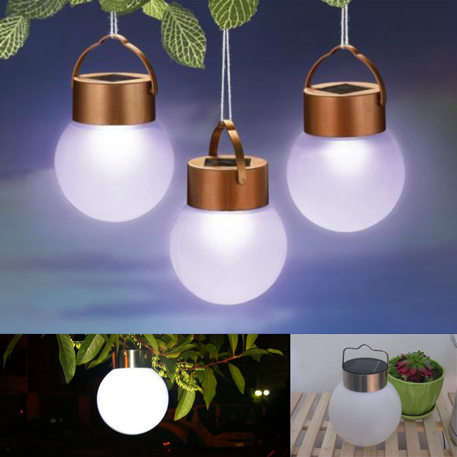 2015 boule solaire lampe solaire ext rieur tanche led lampe de camping portable pour jardin. Black Bedroom Furniture Sets. Home Design Ideas