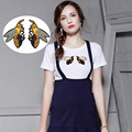 mini Bee and birds fashion Embroidered Iron on or sew on Patch For Collection for T