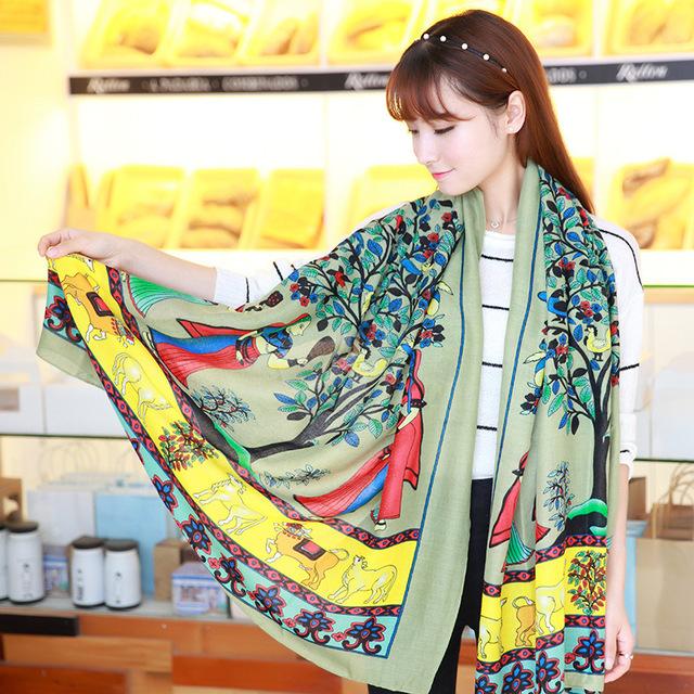 Бренд шарф! Новый 2016 женщины богемия шарф высокое качество шарфы 180 см * 110 см летом платок шарфы женский