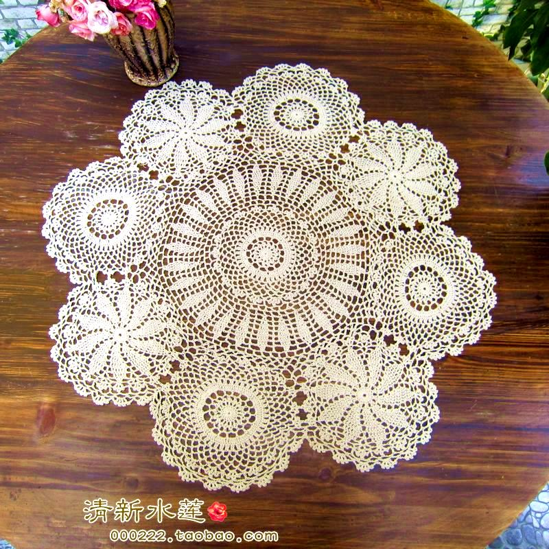 2014 new fashion Zakka crochet round table cloth wedding tablecloth cover stripe tablecloth lace table runner for home decor(China (Mainland))