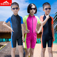 SBART Wetsuit Kids Shorty Wet Suit For Swimming Surfing Short Sleeve Lycra Skin Boys Girls Scuba Diving Suit Child Wetsuit L XL(China (Mainland))