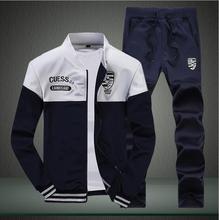 Free Shipping New Fashion 2015 Sping/Autumn Hood Sweatshirt Sports Set Men Brand Men's Sports Suits Men Sportswear Jacket+Pants