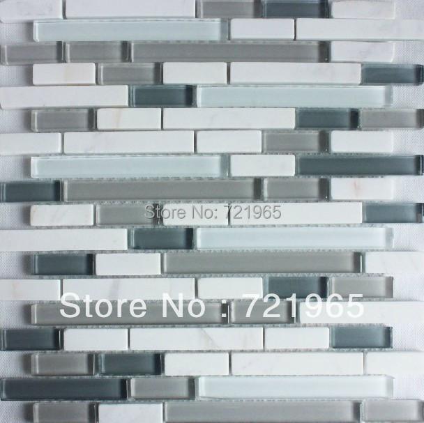 white marble tile glass stone mosaic kitchen backsplash tiles sgmt139
