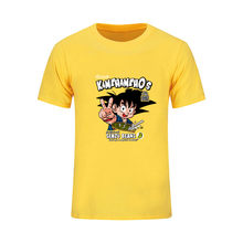 Лето Аниме Драконий жемчуг Z KamehamehO Саян футболки Для мужчин короткий рукав Мода хлопок просто сделать Сон Гоку футболка рубашка с рисунками(China)