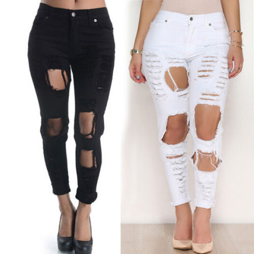 Online Buy Wholesale faded ripped jeans women from China faded ...