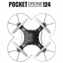 Upslon Quadrocopter Dron 124 Pocket Drone 4CH 6Axis Gyro Quadcopter With Switchable Controller RTF UAV RC Helicopter Mini Drones