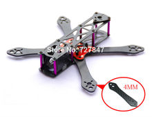 REPTILE Martian 190/230/255mm Drone Racing Carbon Fiber 4mm Replacement Arm Frame kit with Power Distribution Board for QAV210(China (Mainland))