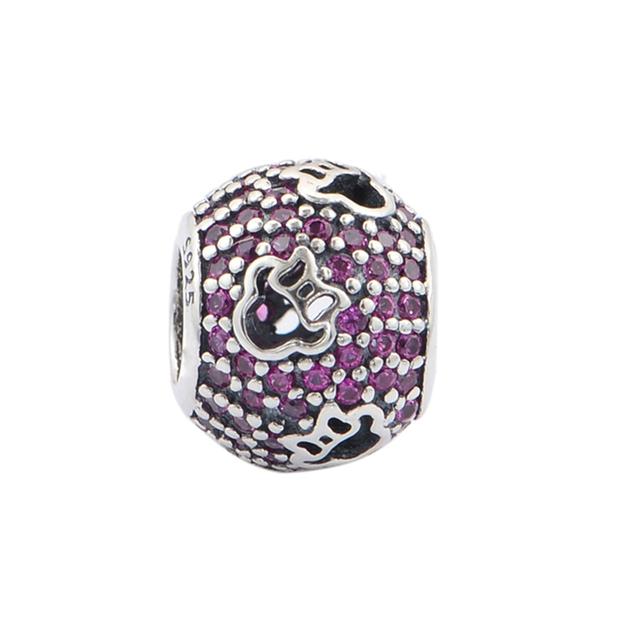Cz камни абстрактный силуэт бусины стерлингового серебра 925 пробы украшения бусины Fit пандора неповторимое очарование браслеты DIY ювелирных украшений 2015