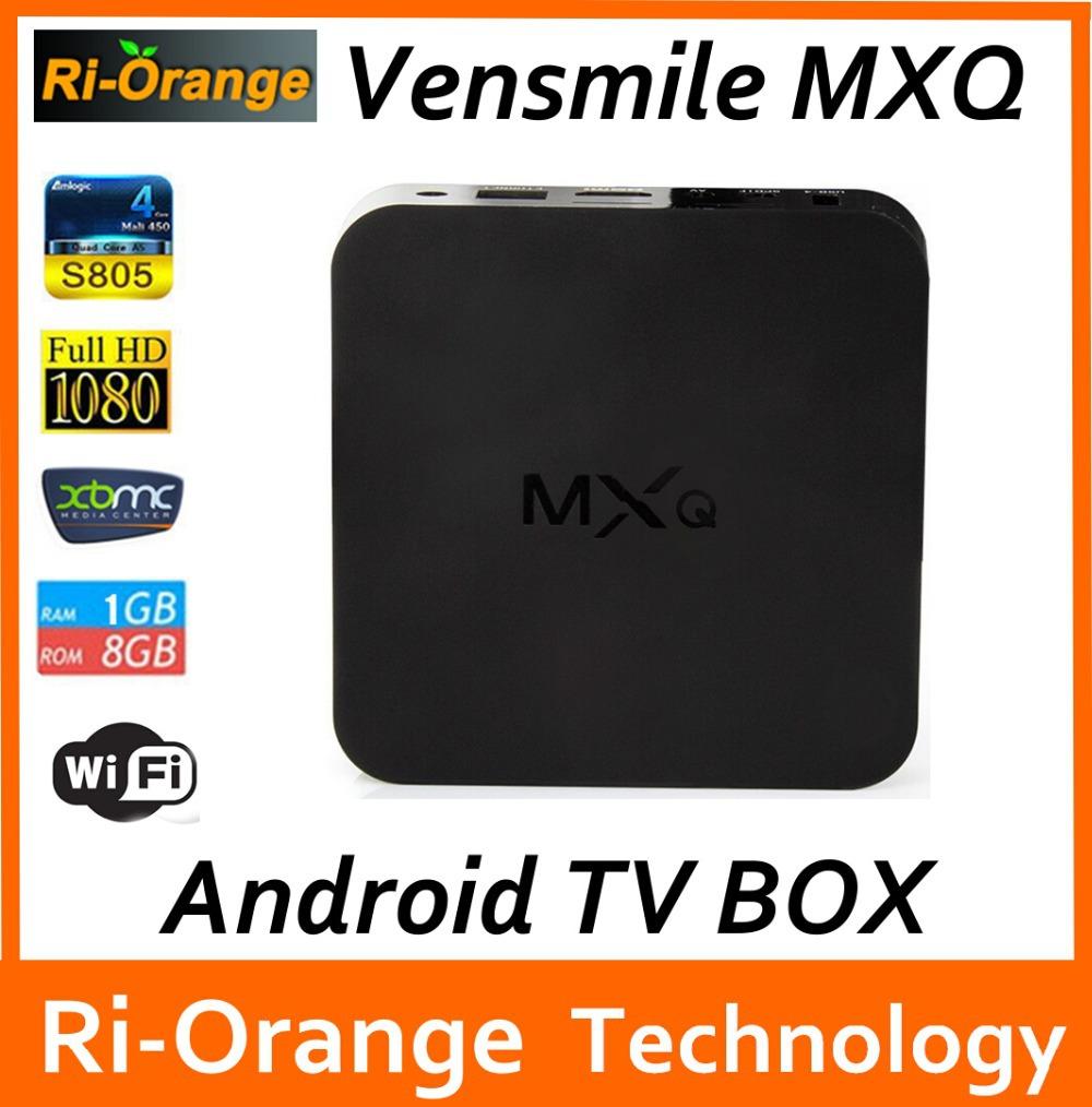 Vensmile MXQ tv box,android tv box,Kodi Pre installed Amlogic S805 Quad Core Android 4.4 better than cs918,Q7,M8,MX,Smart tv box(China (Mainland))