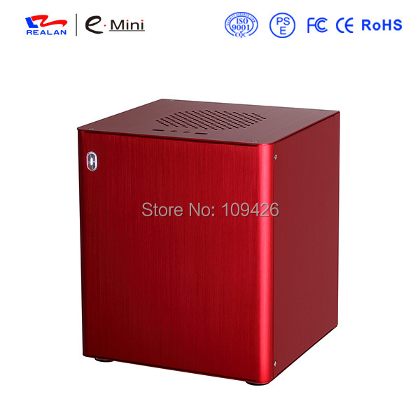 Realan D3 Red HTPC Case, Mini ITX Case For ATX Power Supply, Aluminum 1.5mm, PCI WIFI COM USB 3.0(China (Mainland))