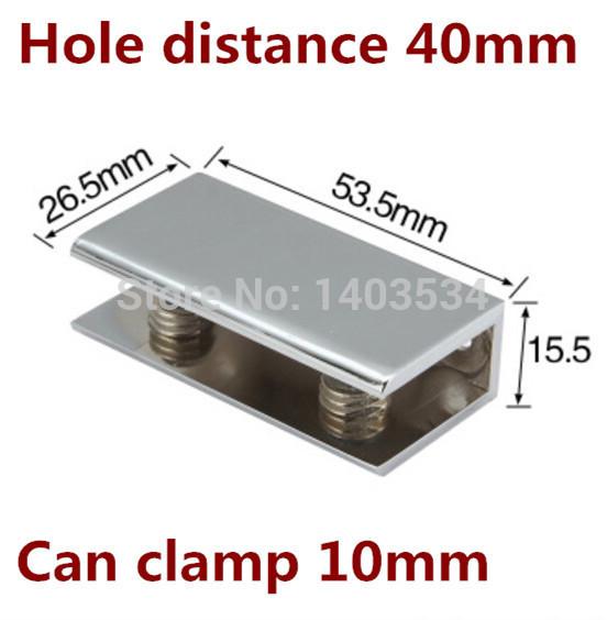 2pcs 53.5*26.5*15.5mm Can clamp 10mm Rectangular shape Zinc alloy Glass Clamp bracket Glossy shiny<br><br>Aliexpress