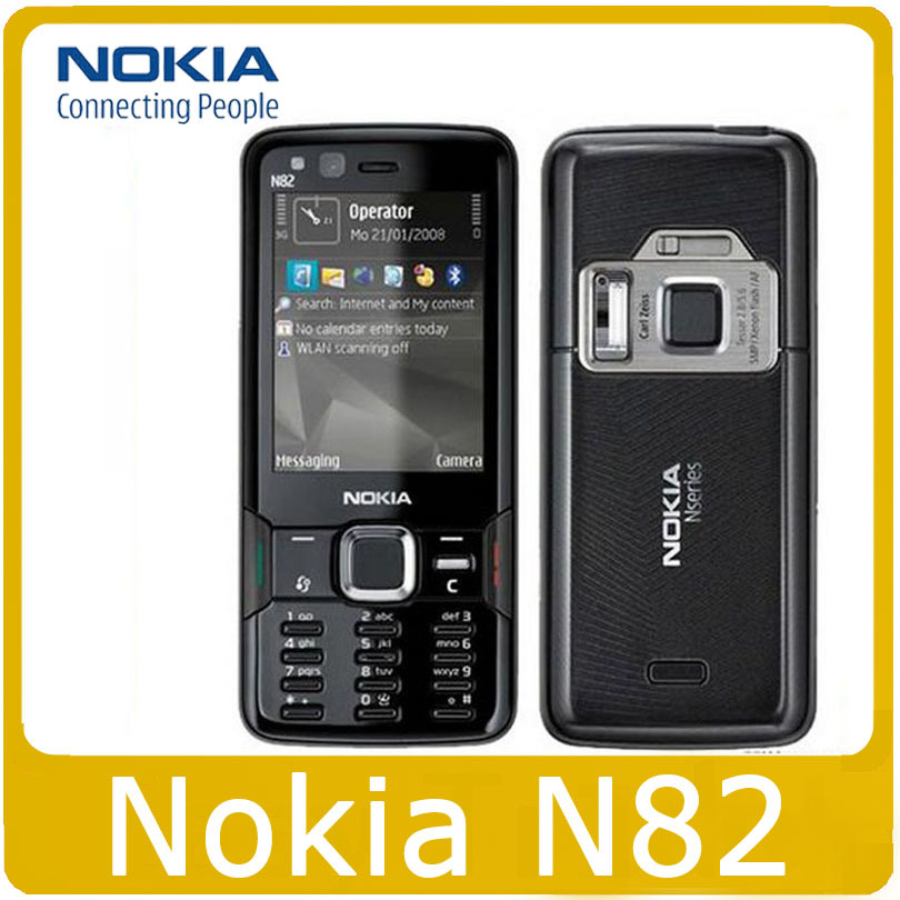 N82 Original phone Unlocked Nokia N82 GSM WCDMA cell phones WIFI GPS Bluetooth 5MP Camera Phone Unlocked(China (Mainland))