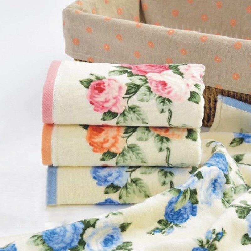 JZGH 32*72cm High Quality Floral Cotton Terry Face Towels,Soft Print Designer Flower Hand Face Towels,Facial Face Towels Cloth(China (Mainland))
