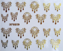 New Arrived 3D Gold Nail Stickers Decorations Eardrop Nail Deisgn Decals Stickers Ongles Manicure Beauty