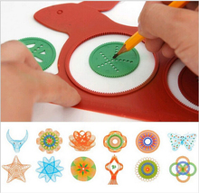 Hot sale  Spirograph Magic Turtle Rabbit Sketchpad Drawing Board Kids Educational Toy free shipping(China (Mainland))