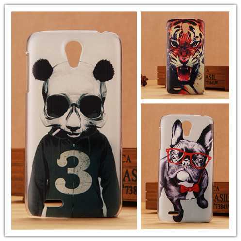 High Quality Hard Cover Case For Lenovo S820 Mobile Phone Cases Painting Protective Back Covers Tower Tiger Dog Lion Design PY(China (Mainland))