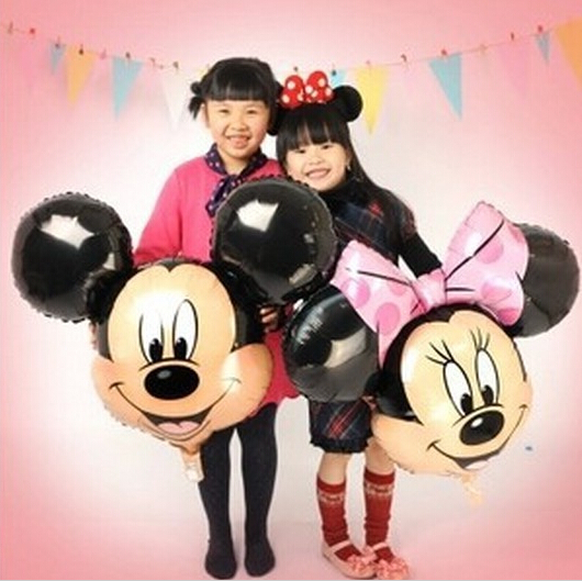 free shipping 10pcs/lot Minnie and mickey mouse party foil balloons helium cartoon balloons for birthday party toys(China (Mainland))