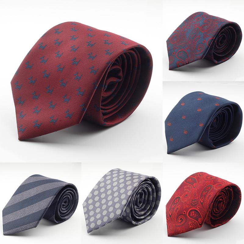 New Design Brand Mens Ties silk jacquard weave Dot Necktie 7cm corbatas hombre 2016 Gravata Classic Fashion Business Tie For Men(China (Mainland))