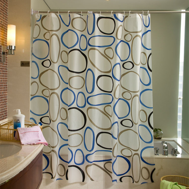 Modern PEVA Shower Curtains Cute Bath Curtain Bathroom