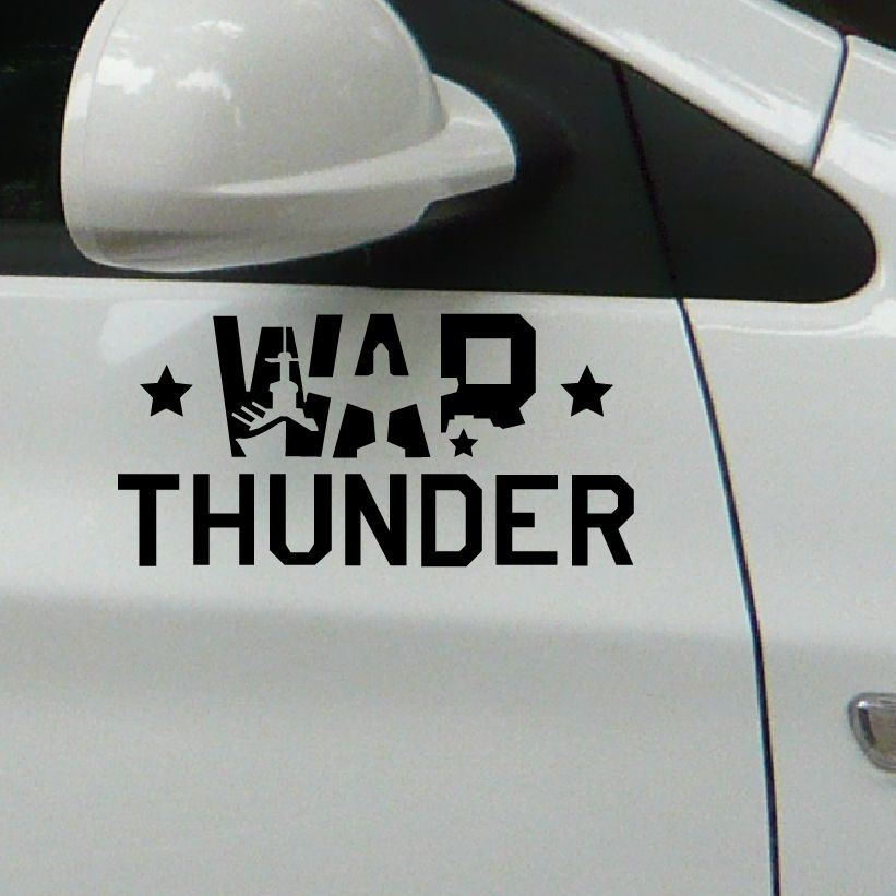 War Thunder vinyl car laptop window wall funny stickers/ BLACK/ reflective silver white/24CMX11CM/wholesale(China (Mainland))