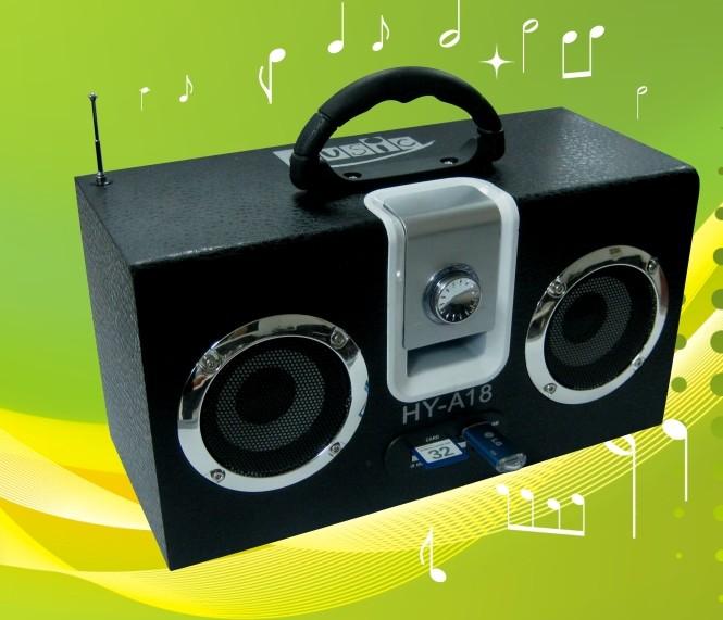 Portable FM Wooden Speaker Sound Speaker for Laptop PC Mobile Phones Natural Bamboo Square Speaker(China (Mainland))