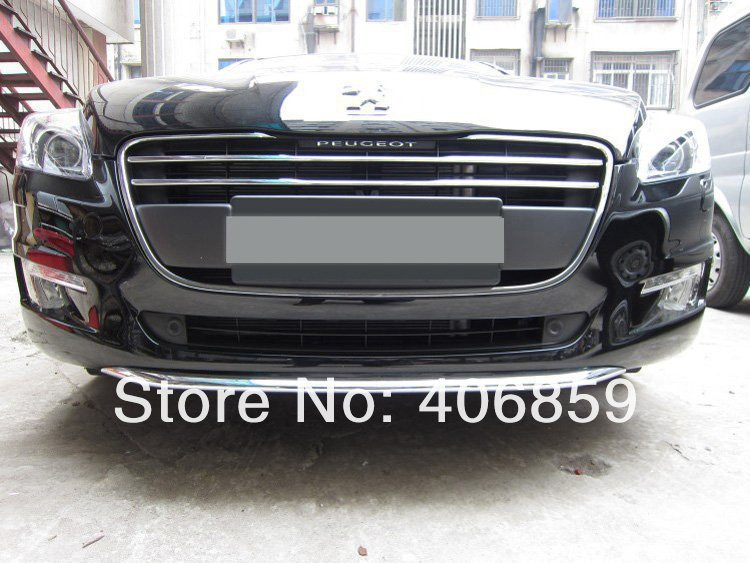 ABS Chrome Front Grille Around Trim Racing Grills Trim For 2011-2012 Peugeot 508