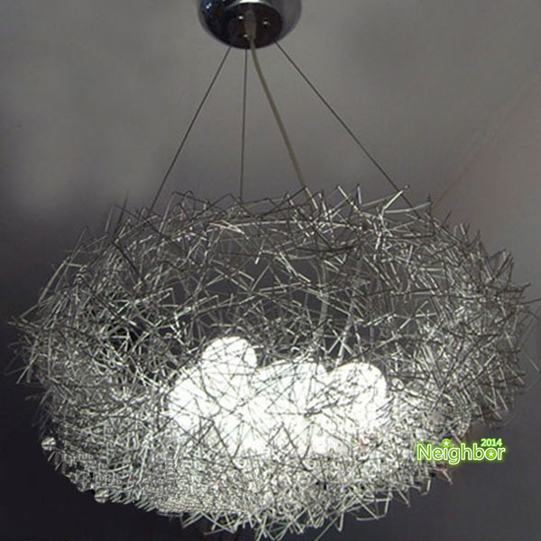 Modern Aluminum Wire Bird's Nest Chandelier Suspension lamp Hanging lamps Living room Dining room Bars Cafes Lighting(China (Mainland))