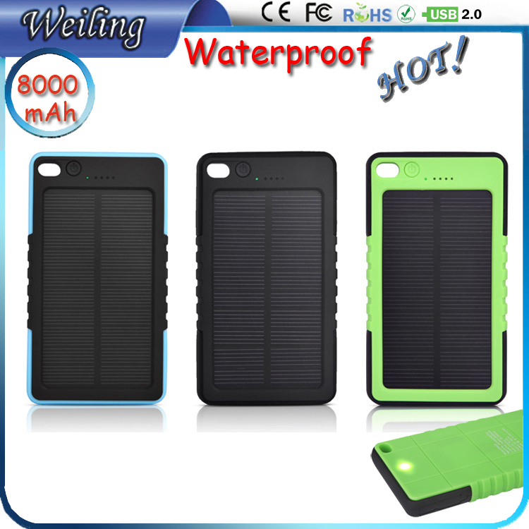 Solar Charger 8000mah Solar Power Bank External Battery for smartphone /ipad/camera/iPhone/Samsung(China (Mainland))