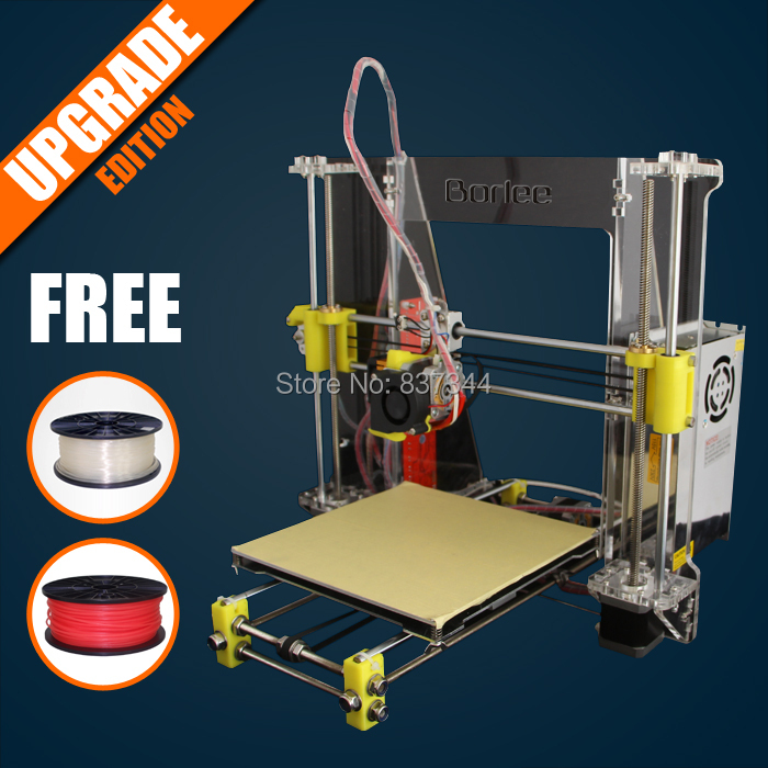 Borlee A600 3D printer Prusa Reprap i3 DIY kit impressora 3d printers With FREE Two Roll 1KG 1.75mm PLA Filaments