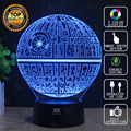 Death Star 3D Lamp Star Wars BB 8 Lamp LED Novelty Night Lights USB Light