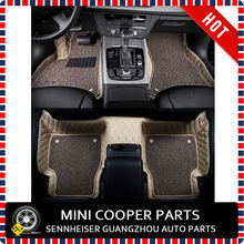 Brand New Leather Material Beige and Brown Color 3D Car Floor Mat For mini cooper Countryman R60 Only (4 Pcs/Set)(China (Mainland))