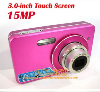 15MP 3.0-inch Touch Screen Digital camera With 5X optical zoom, 8X digital zoom Free shipping(China (Mainland))